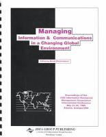 Managing Information and Communications in a Changing Global Environment PDF