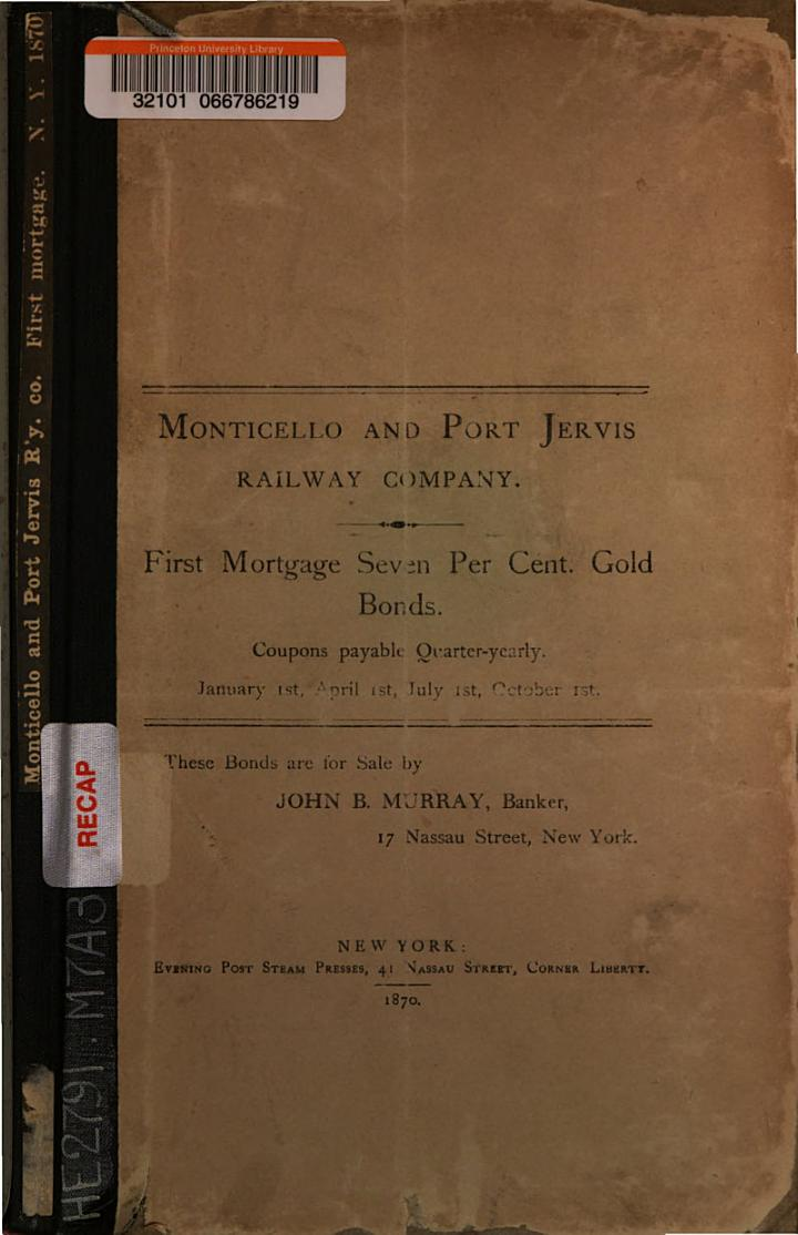 Monticello and Port Jervis Railway Company