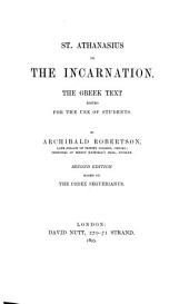 St. Athanasius on The incarnation: the Greek text edited for the use of students