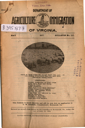 Bulletin - Virginia Department of Agriculture and Immigration: Issue 117