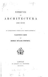 Vitruvii De architectura libri decem