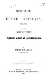 Pennsylvania State Reports: Volume 154