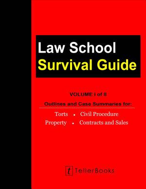 Law School Survival Guide  Volume I of II  PDF