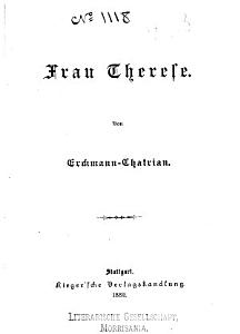 Bd  Frau Therese PDF