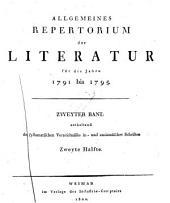 Allgemeines Repertorium der Literatur für die Jahre 1785 bis [1800]