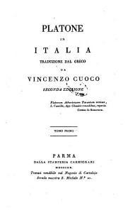 Platone in Italia traduzione dal greco da Vincenzo Cuoco tomo primo   secondo  PDF