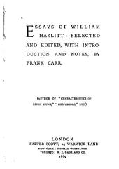 Essays of William Hazlitt