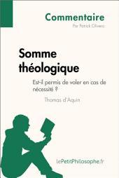 Somme théologique de Thomas d'Aquin - Est-il permis de voler en cas de nécessité ? (Commentaire): Comprendre la philosophie avec lePetitPhilosophe.fr
