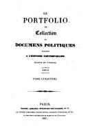 Le Portfolio ou Collection de documens politiques relatifs    l histoire contemporaine PDF