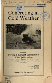 Concreting in cold weather: Volume 2, Issue 1