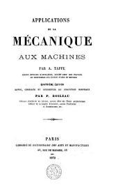 Applications de la mécanique aux machines