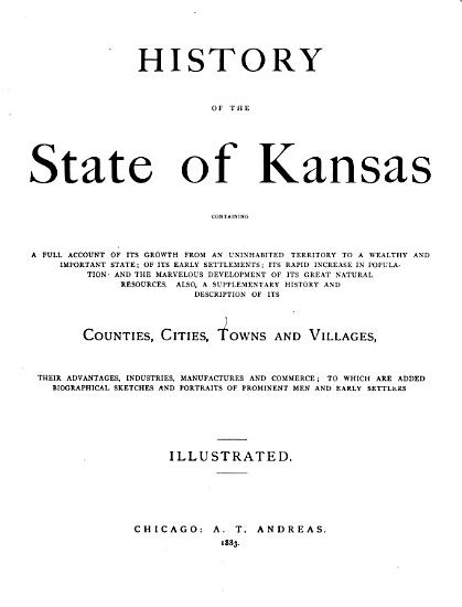 History of the State of Kansas PDF
