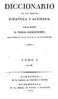 Dicionario de las lenguas espa  ola y alemana PDF