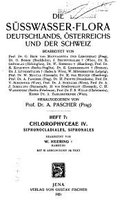 Die Süsswasser-Flora von Mitteleuropa: Chlorophyceae 2-4