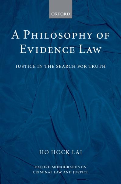 Download A Philosophy of Evidence Law Book
