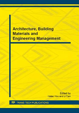 Architecture  Building Materials and Engineering Management PDF