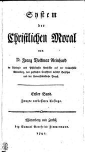 System der Christlichen Moral: Erster Band, Band 1