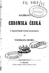 Dalimilova chronika česká v nejdávnější čtení navrácená od Váceslava Hanky