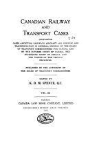 Canadian Railway and Transport Cases