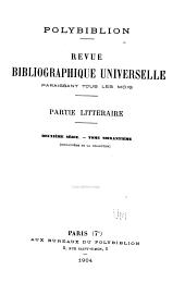 Polybiblion: Revue bibliographique universelle, Volume101