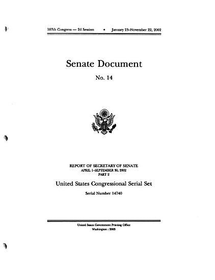 Schedule of Serial Set Volumes PDF