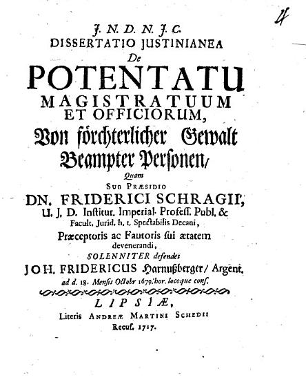 Diss      de potentatu magistratuum et officior PDF