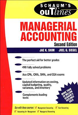 Schaum s Outline of Managerial Accounting