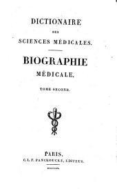 Dictionnaire des sciences médicales: biographie médicale, Volume2