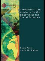 Categorical Data Analysis for the Behavioral and Social Sciences PDF