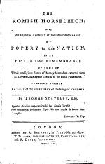 The Romish horseleech, or, An impartial account of the intolerable charge of Popery to this nation