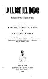 Lo Llibre del honor: tregedia en tres actes y en vers