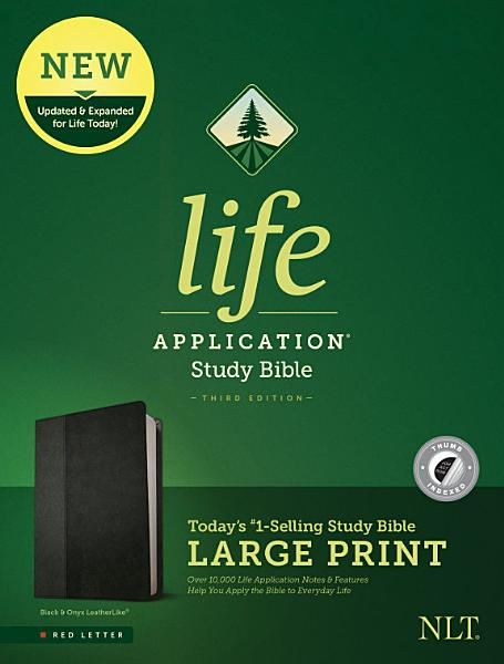 Download NLT Life Application Study Bible  Third Edition  Large Print  Leatherlike  Black Onyx  Indexed  Book