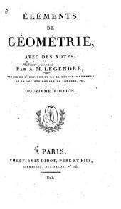 Éléments de géométrie: avec des notes