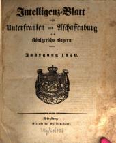 Intelligenzblatt von Unterfranken und Aschaffenburg des Königreichs Bayern: 1850