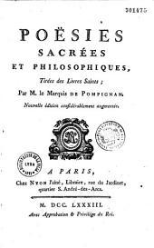 Poésies sacrées et philosophiques de M. le marquis Jean-Jacques Lefranc de Pompignan
