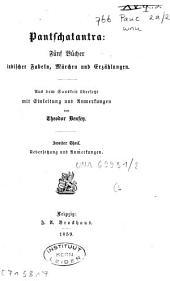 Pantschatantra: fünf Bücher indischer Fabeln, Märchen und Erzählungen, Band 2