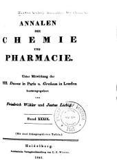 Justus Liebig's Annalen der Chemie: Bände 39-40