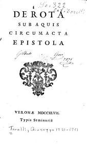 De rota sub aquis circumacta epistola