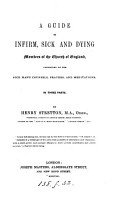 A guide to infirm  sick and dying members of the Church of England PDF