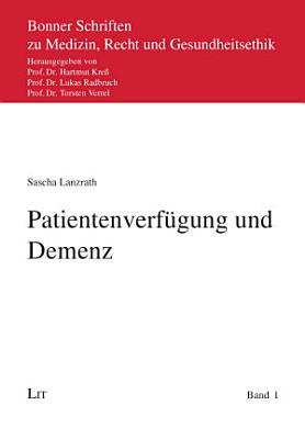 Patientenverf  gung und Demenz PDF