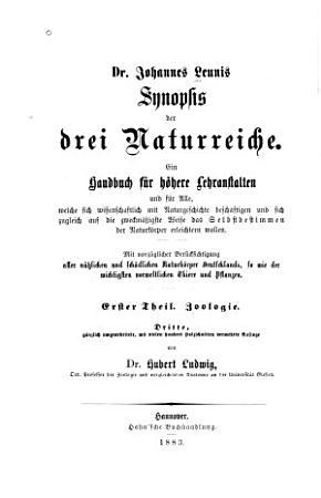 Dr  Johannes Leunis Synopsis der drei Naturreiche PDF