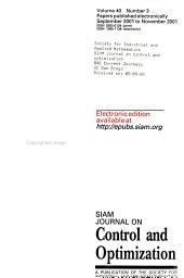 SIAM Journal on Control and Optimization