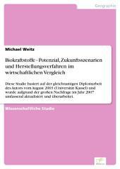 Biokraftstoffe - Potenzial, Zukunftsszenarien und Herstellungsverfahren im wirtschaftlichen Vergleich: Diese Studie basiert auf der gleichnamigen Diplomarbeit des Autors vom August 2003 (Universität Kassel) und wurde aufgrund der großen Nachfrage im Jahr 2007 umfassend aktualisiert und überarbeitet.