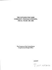 The Outlook for farm commodity program spending, fiscal years 1991-1996
