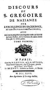 DISCOURS DE S. GREGOIRE DE NAZIANZE