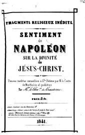 Sentiment de Napoléon sur la divinité de Jésus-Christ