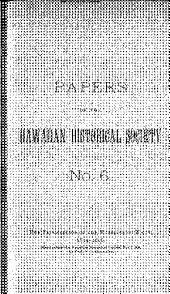 Papers of the Hawaiian Historical Society