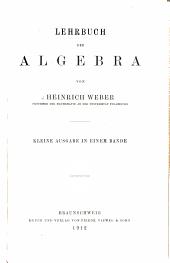 Lehrbuch der Algebra: Band 1