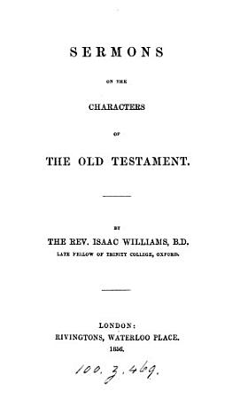Sermons on the Characters of the Old Testament PDF