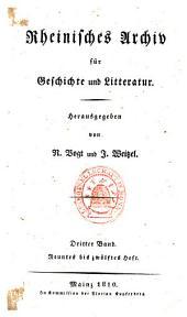 Rheinisches Archiv für Geschichte und Litteratur: Band 3